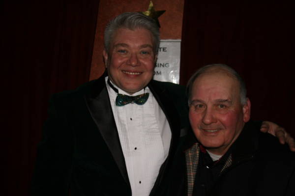 One Sabella on stage and one in the house. David's famous brother, Ernie Sabella, was on-hand to lend support as well as to just plain have a great time. (here he is pictured with Richard Skipper)