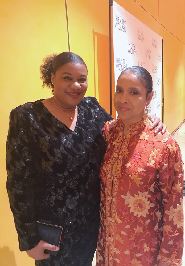 Adrienne C. Moore and Phylicia Rashad