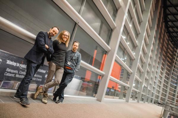 Chris Stafford (Chief Executive, Curve), Tim Minchin (Composer), Nikolai Foster (Artistic , Curve)  Photo Credit: Sam Allard