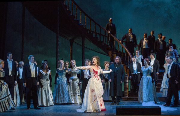 "A scene from Act III of Donizetti's ""Lucia di Lammermoor"" with Olga Peretyatko-Mariotti in the title role. Photo: Richard Termine / Met Opera"