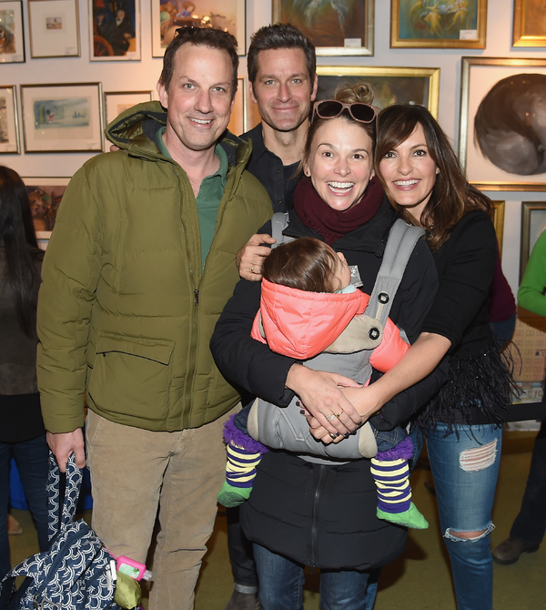 Ted Griffin, Peter Hermann, Sutton Foster and Mariska Hargitay
