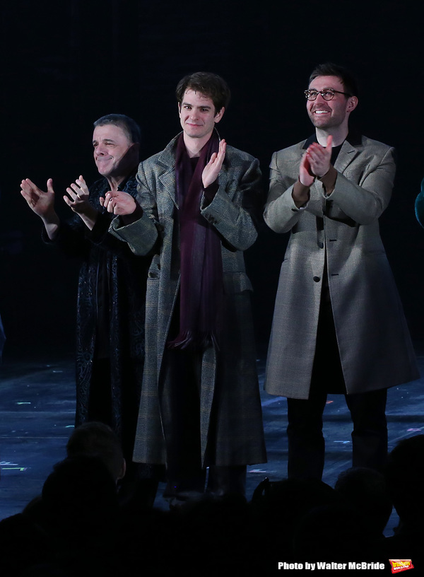 Nathan Lane, Andrew Garfield and James McArdle