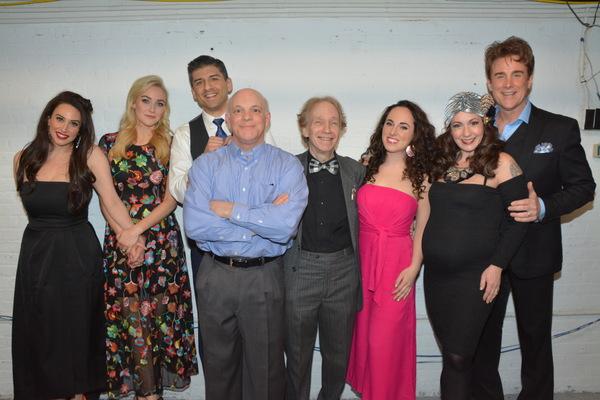 Lesli Margherita, Betsy Wolfe,Tony Yazbeck, Eddie Korbich,  Scott Siegel, Mia Gerachis, Jenny Lee Stern and Sal Viviano