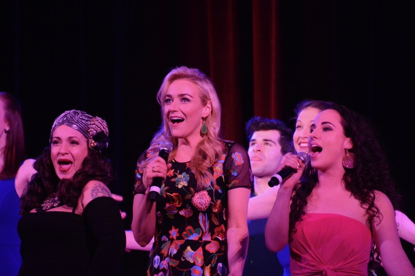 Jenny Lee Stern, Betsy Wolfe and Mia Gerachis