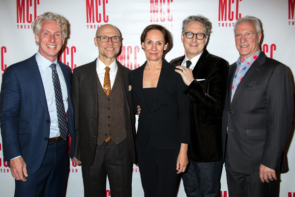 Blake West, William Cantler, Laurie Metcalf, Bernard Telsey, Robert LuPone