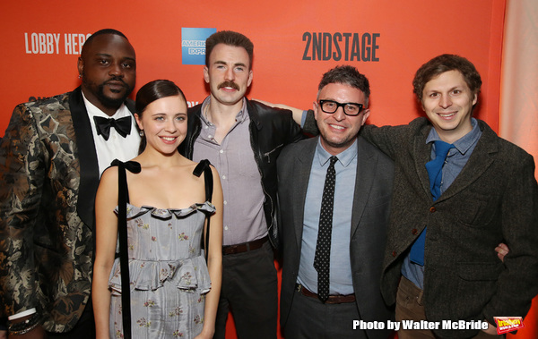 Brian Tyree Henry, Bel Powley, Chris Evans, Trip Cullman and Michael Cera  Photo
