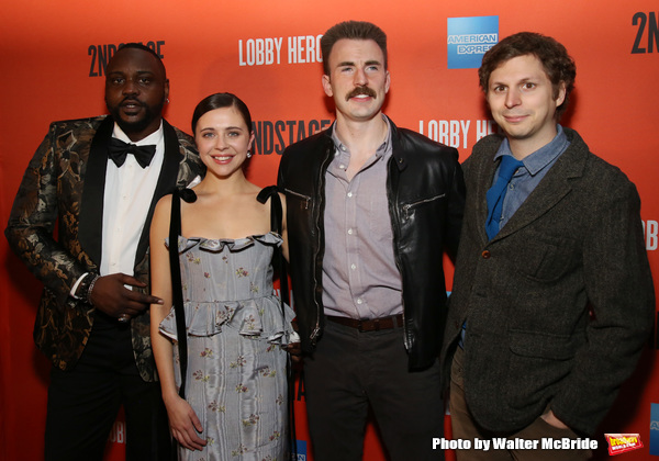 Brian Tyree Henry, Bel Powley, Chris Evans, and Michael Cera Photo