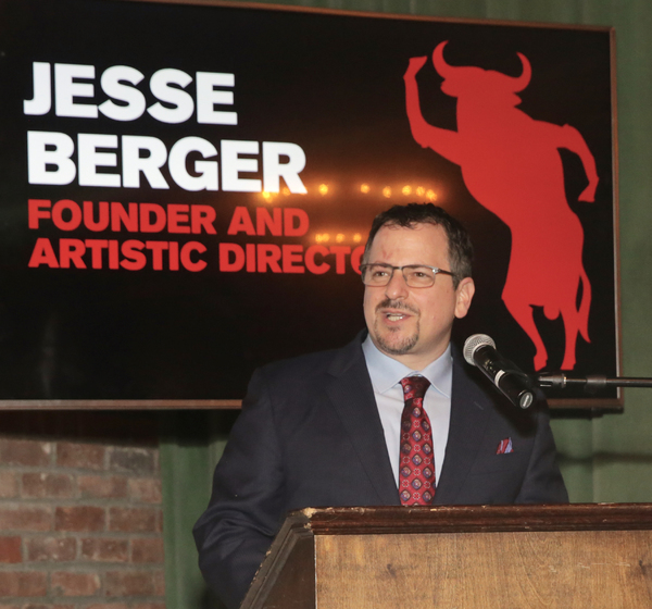 Jesse Berger (Founding Artistic Director) opens the Tenth Annual RUNNING OF THE RED BULLS Benefit