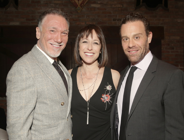 Patrick Page and Paige Davis with Matthew Rauch at the Tenth Annual RUNNING OF THE RED BULLS Benefit