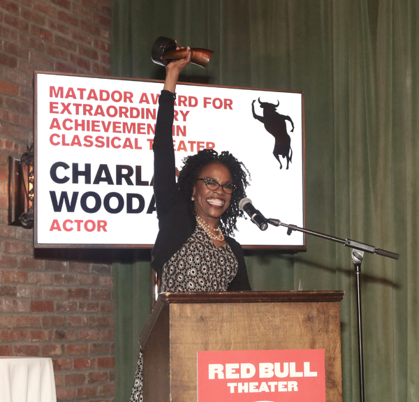 Charlayne Woodard was honored with the Matador Award for Extraordinary Achievement in Classical Theater at the 2018 RUNNING OF THE RED BULLS Benefit