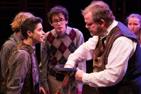 (L to R) EMILY COHEN (Boy), JAMES WREDE (Lord Aster) and McKENNA SANFORD (Molly)
