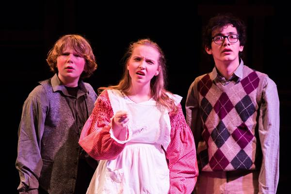 (L to R) GUNNAR RAY (Prentiss), McKENNA SANFORD (Molly) and PARKER DEAN (Ted) Photo