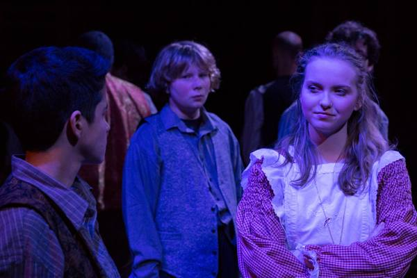(L to R)  EMILY COHEN (Boy), GUNNAR RAY (Prentiss) and McKENNA SANFORD (Molly)