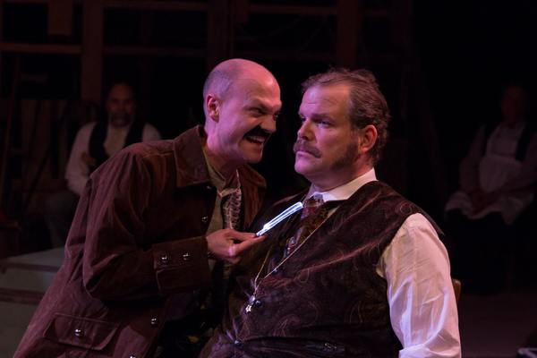 (L to R)  KYLE SINCLAIR (Black Stache)  and JAMES WREDE (Lord Aster)