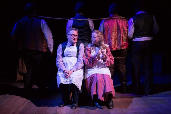 (L to R)  MARTIN LARSON (Mrs Bumbrake)  and McKENNA SANFORD (Molly) Photo
