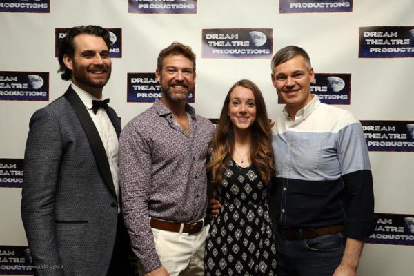 Sophie and her Dads. Stephanie Ann Christian with Adam Kaster(Bill Austin), Michael Hunsaker (Sam Carmichael) and Eric Van Tielen (Harry Bright)