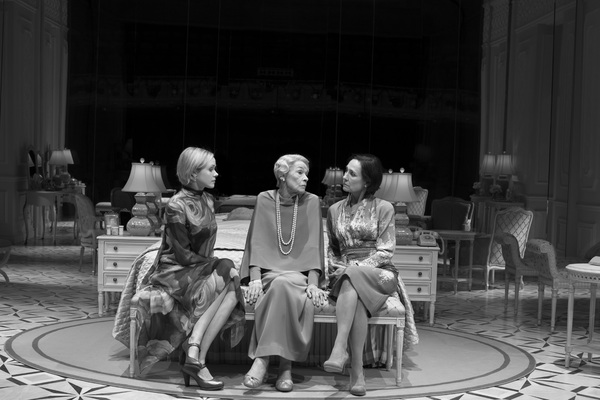 Alison Pill, Glenda Jackson, Laurie Metcalf in Edward Albee's Three Tall Women, directed by Joe Mantello, at the Golden Theatre.
