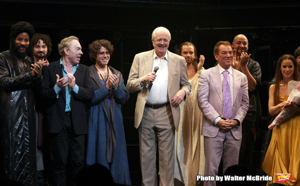 Andrew Lloyd Webber & Tim Rice with Josh Young, Paul Nolan, Chilina Kennedy, Director Des McAnuff & Company