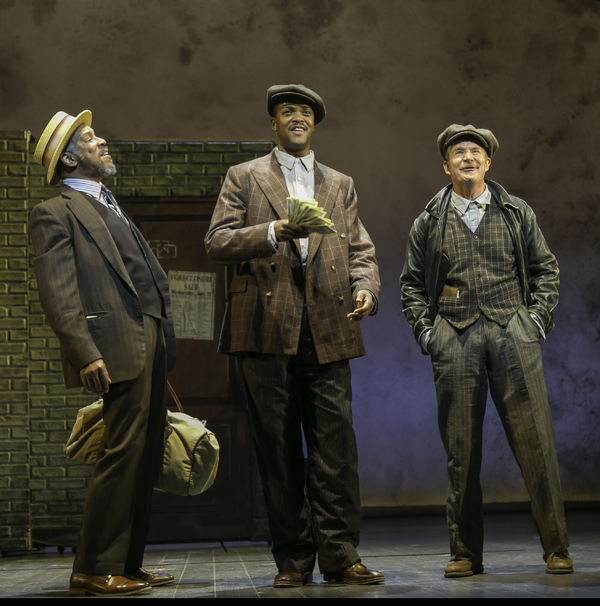 Kevyn Morrow (Luther), J. Harrison Ghee (Johnny Hooker) and Peter Benson (The Erie Kid); Photo by Jerry Dalia