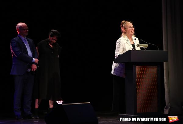 Michael Wilson, Rachel Chavkin and Gale Brewer