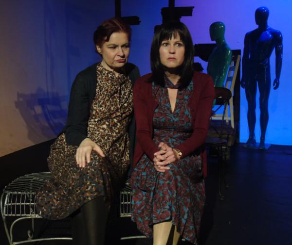 Georgan George as Virginia Woolf and Meg Wallace as Vivienne Eliot