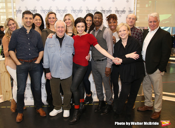 Tony Yazbeck, John Kander, Irina Dvorovenko, Teagle F. Bougere, Susan Stroman, Peter Friedman and David Thompson with cast
