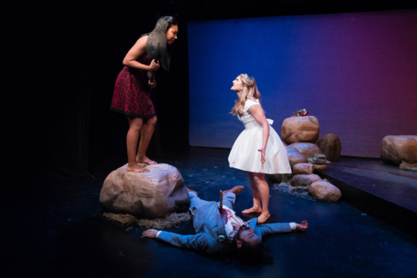 Elizabeth Baker, Shelby Wane and chris in UGLY ON THE INSIDE Photo