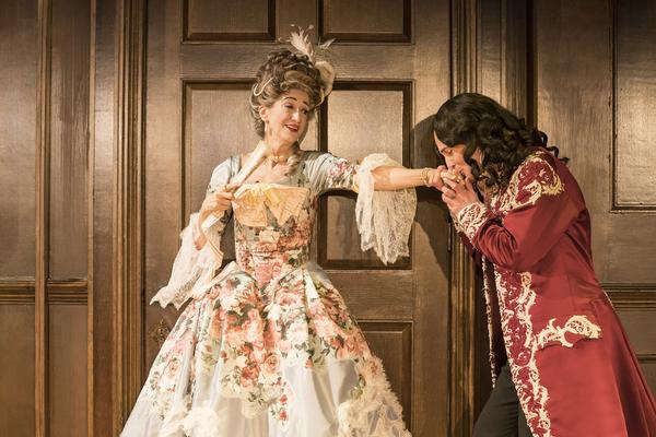 Haydn Gwynne (Lady Wishfort) and Alex Beckett (Waitwell) Photo