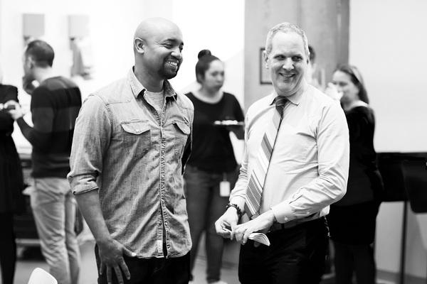 Francois Battiste & Harold Wolpert (Executive Director of Signature Theatre) Photo
