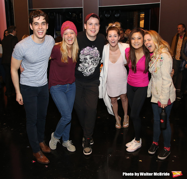 Kyle Selig, Kate Rockwell, Grey Henson, Taylor Louderman, Ashley Park and Kerry Butler