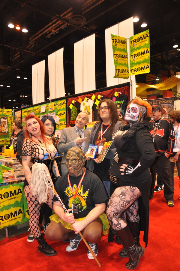 Lloyd Kaufman and cosplay fans Photo