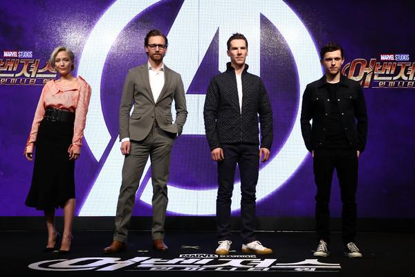 Pom Klementieff; Tom Hiddleston; Benedict Cumberbatch; Tom Holland Photo