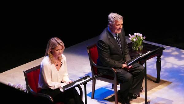Kelli O'Hara and Alec Baldwin
