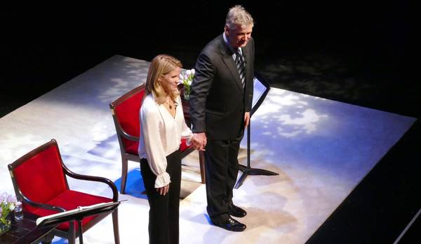 Kelli O'Hara and Alec Baldwin