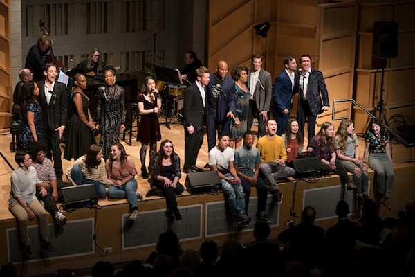 Full cast (standing), students from the Rosetta LeNoire Musical Theatre Academy (seat Photo