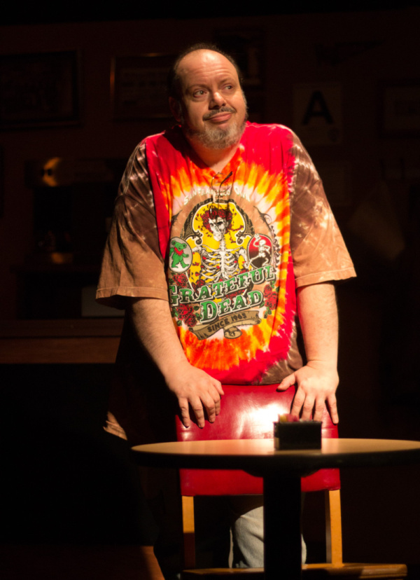 Bill Pelletier as Arthur in SUPERIOR DONUTS at Olathe Civic Theatre Association. Photo by Shelly Stewart Banks.