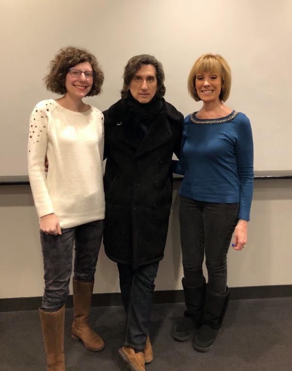 Hershey Felder with Roz Varon, ABC 7 Chicago Traffic/Transportation Anchor, and her daughter Sara Janz