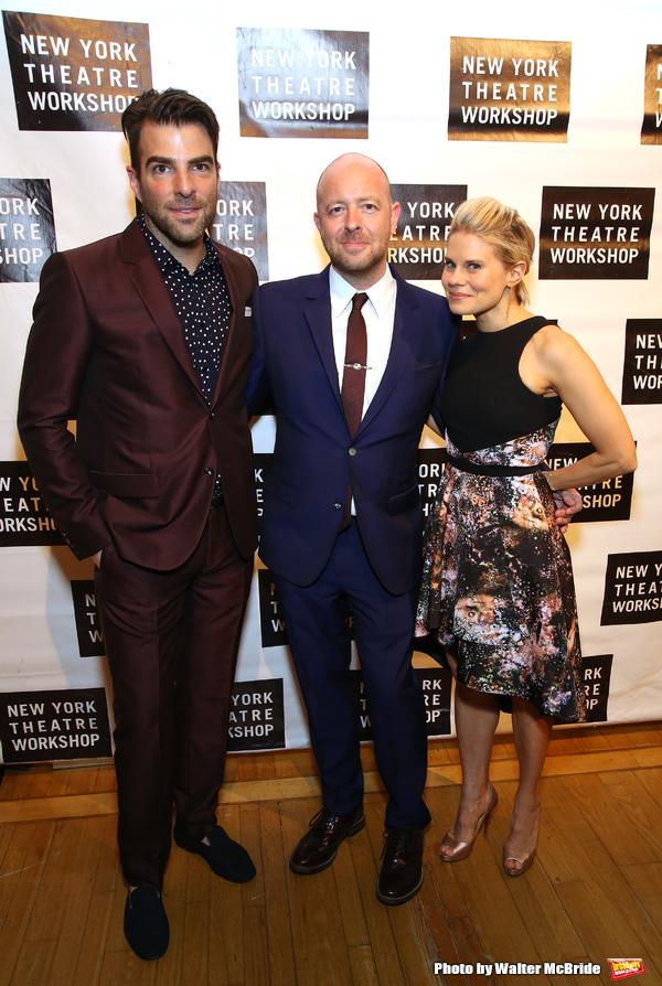 Zachary Quinto, John Tiffany and Celia Keenan-Bolger  Photo