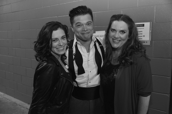 Rachel Bloom, Vincent Rodriguez III and Donna Lynne Champlin