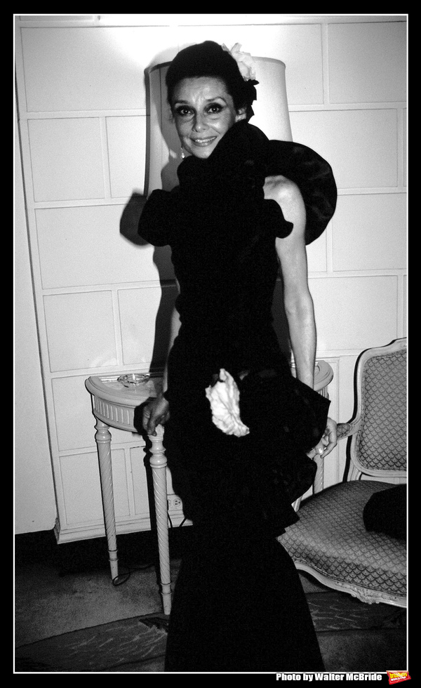 Audrey Hepburn attends the 'Givenchy: 30 Years' - Fashion Retrospective After Party on May 10, 1982 at Pierre Hotel in New York City.