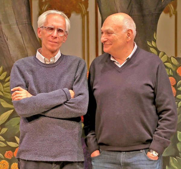 METROMANIACS playwright David Ives (pictured at left) with Michael Kahn, director. Photo