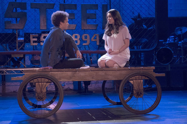 """RISE -- """"This Will God Willing Get Better"""" Episode 107 - Pictured: (l-r) Damon J. Gillespie as Robbie Thorne, Auli'i Cravalho as Lilette Suarez  -- (Photo by: Virginia Sherwood/NBC)"""