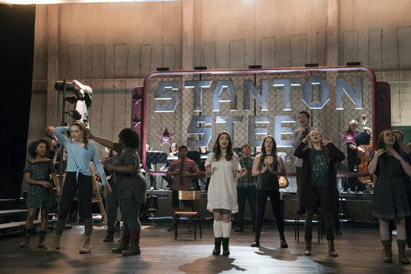 """RISE -- """"This Will God Willing Get Better"""" Episode 107 - Pictured: (l-r) Rachel Hilson as Harmony Curtis, Amy Forsyth as Gwen Strickland, Tiffany Mann as Cheryl, Sergio King as Clark Howard, Auli'i Cravalho as Lilette Suarez, Erin Kommor as Sasha, Nacho T"""