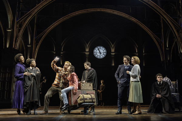 Harry Potter and the Cursed Child Production Photo - Noma Dumezweni, Susan Heyward, Paul Thornley, Olivia Bond, Ben Wheelwright, Jamie Parker, Poppy Miller, Sam Clemmett Photo Credit: Manuel Harlan