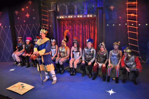 Donald Pauselius as King Charlemagne leads the cast of Pippin at Rhino Theatre in War Photo