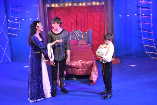 Catherine (Danielle Krause) explains the duck situation with Pippin (Greg Gwyn) regar Photo