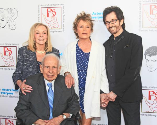 PDS Chairman, Joni Berry, Producer Lee Hale, Barrie Chase & George Chakiris Photo