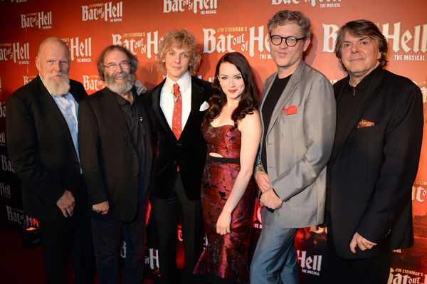 Producer Tony Smith, producer Michael Cohl, Andrew Polec and Christina Bennington, director Jay Scheib and producer Randy Lennox