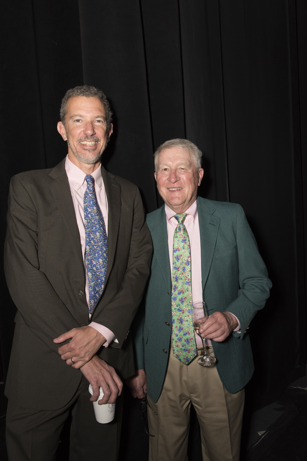 Alexander Fraser and Board Chair Marvin Woodall