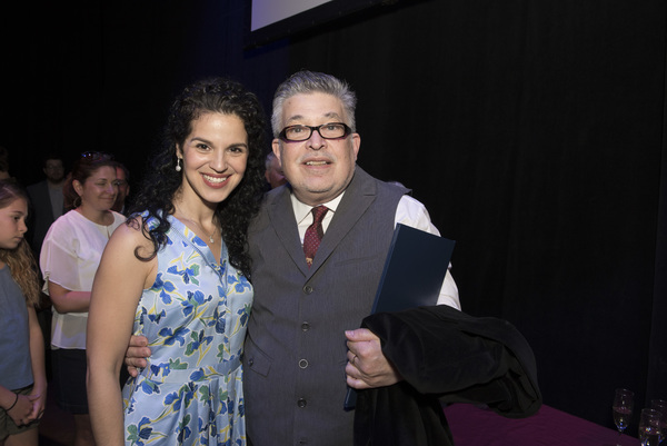 Shirley Rumierk (who plays Vanessa Suarez) with Lou Volpe